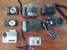 Lot of 8 Cameras Parts/Not Working Nikon, Kodak, Olympus, Polaroid ,Panasonic