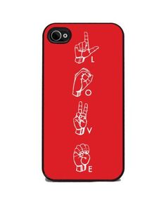 American Sign Language 'LOVE' iPhone 4 and 4s Silicone Rubber Cover, Cell Phone Case by Insomniac Arts, http://www.amazon.com/dp/B0093SOPR4/ref=cm_sw_r_pi_dp_MKHwrb1WE745N