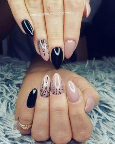 Black and nude nails Mehndi nails, style nails, design nails, glamour nails