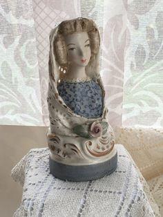 Vintage Of Pair Cordey Cybis Quot Papka Quot Porcelain Victorian