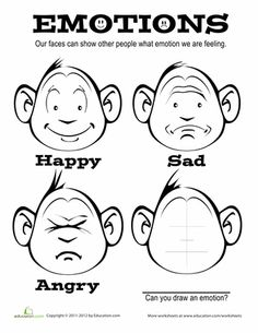 Worksheets: Emotions Coloring Page
