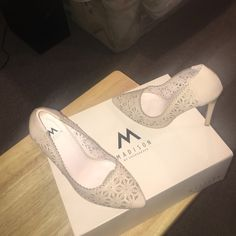 Soft Pink Floral Heels Size 5 1/2 Never Worn Brand New Madison Shoes Heels