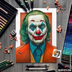 I'm finally going to see the Joker movie today! I recently completed my drawing of the Joker and I'm pretty excited how it turned out. Joker Sketch, Joker Drawings, Realistic Drawings, Pencil Drawings, My Drawings, Der Joker, Joker Art, Joker Poster, Arte Hip Hop