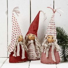 Christmas Decorations made from Design Felt NOTE THis has a tut and patterns but is not as cute as the nisse pattern and tut