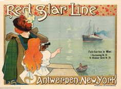 One of the priciest of the bunch,Henri Cassiers's advert for Red Star Line is expected to...