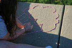 Make #DIY Sidewalk Foam Paint & #HugtheMess for easy clean up! #ad #craft #cbias