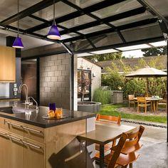 bessa block/garage door garden facing