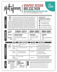 Resume design & layout: