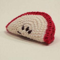 Crochet Apple Wedge