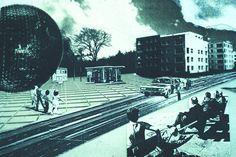 OMA - Woningbouw Festival collage 1986. (Hamilto, Superstudio, Anglo-Saxon art scene..)