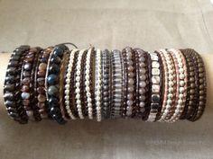 Leather Wrap Bracelets by NEMM Jewelry on Etsy