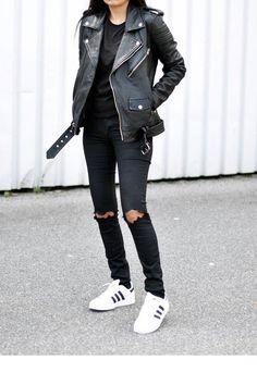 jean noir + perfecto