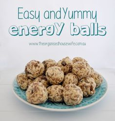 kids lunchbox snack - These energy balls are easy to make and really delicious. The kids wil enjoy having them in their lunch box for morning tea.