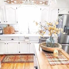 404 Not Found Farmhouse Kitchen Island, Modern Kitchen Island, Cottage Kitchens, Kitchen Islands, Kitchen Interior, Kitchen Decor, Kitchen Ideas, Simple Dining Table, Rustic Home Interiors