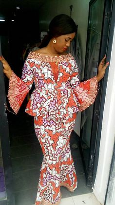 Best African Dresses, African Fashion Ankara, Latest African Fashion Dresses, African Print Dresses, African Attire, Nigerian Dress, Ankara Short Gown Styles, Prom Dresses Long With Sleeves, Woman Dresses