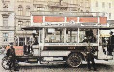 Postkarte, Berlin, Automobilomnibus, 1911.