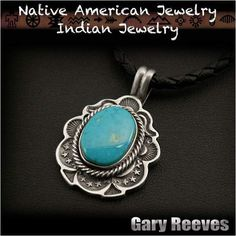 Gary Reeves Navajo Native American Indian Jewelry Sterling Silver Turquoise Pendant  http://item.rakuten.co.jp/auc-wildhearts/na2328r73/