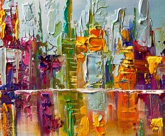 Abstract Painting   Original Abstract Art - Modern Art and Landscape Paintings by Osnat ...