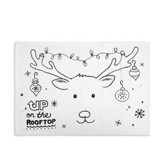 Christmas Reindeer Doodle Pillowcase with Fabric Markers - Mellow Monkey - 1