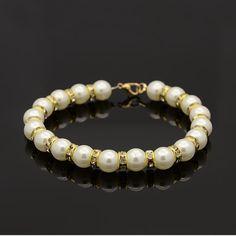 CCB Pearl Beads Bracelets from Pandahall.com