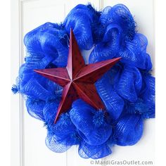 Red Metal Star Decoration: 12.5-inch, a perfect addition to your Red, White, and Blue Holiday decorations-