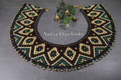 Beaded NECKLACE Choker Beaded choker Seed bead necklace