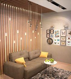 Деревянные панели на стене и потолке в гостиной - Дизайн интерьера квартиры г. Нижневартовск, ХМАО-Югра