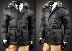 SKORP 0218 - CZARNO-GRAFITOWY | On \ Kurtki męskie \ Kurtki zimowe | Denley - Odzieżowy Sklep internetowy | Odzież | Ubrania | Płaszcze | Kurtki