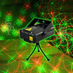 NEW MINI PROJECTOR GREEN AND RED LASER STAR STAGE DJ LIGHTING LIGHT PARTY CLUB