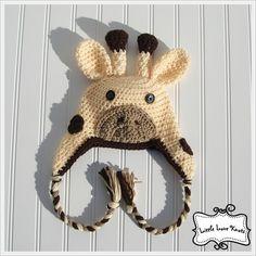 Baby Giraffe Hat Crochet Jungle Photography Prop Shower Gift. $18.50, via Etsy.