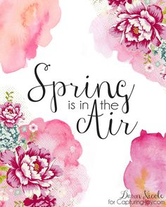 Spring and Easter Watercolor Printables are an inexpensive way to change the decor of your home to match the season. These beautiful watercolor printables are perfect for spring. Spring Is Coming, Spring Is Here, Hello Spring, Spring Time, Happy Spring Day, Frühling Wallpaper, Spring Quotes, Spring Season Quotes, Quotes About Spring