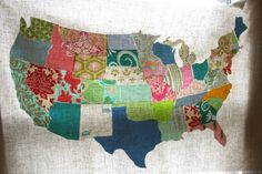Geography quilting.