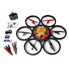 WLToys Hexacopter RC Quadcopter  Skywalker V323 Drone  SixMotor 24GHz 4 Ch 6Axis Colors May Vary * Check out this great product.Note:It is affiliate link to Amazon.