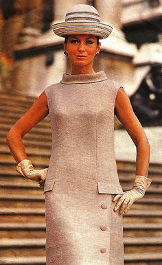Model is wearing a creation by Sybil Connolly.  Vogue Paris Original Patterns,1968.