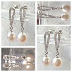💖SUMMER SALE💖CRYSTAL NATURAL PEARL EARRINGS 💖SUMMER SALE💖CRYSTAL NATURAL PEARL EARRINGS💖 AAA Quality Natural Freshwater Pearls. Crystals set in Gold filled reverse tear shape design.  💝PRICE FIRM💝  💖PRICE FIRM💖  🎀 20 PLUS % OFF AAA QUALITY NATURAL FRESHWATER PEARLS🎀. 🎀PRICE FIRM🎀 Jewelry Earrings