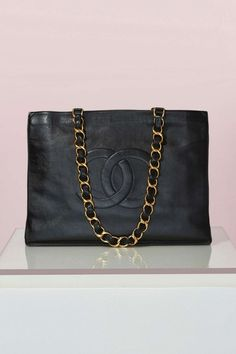 a33ea32cb43a Chanel Black Leather Tote Buy Chanel Bag