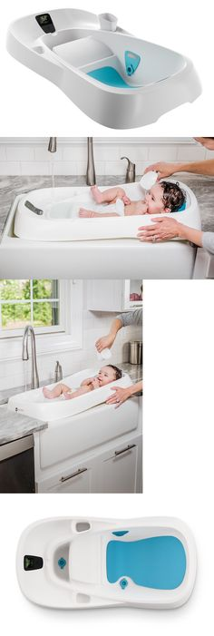 Bath Tubs 113814: 4Moms Infant Tub, Digital Thermometer Baby Bath Tub  Constant Flow Of