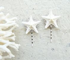 Starfish Bobby Hair Pins  Sea Treasure Collection by StaroftheEast, $37.00
