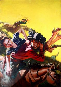 pulp western art | Grapefruit Moon Gallery: Bucky Swings The Whip