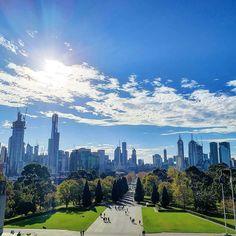 "Melbourne Explorer on Instagram: ""Clear skies // don't let the sunshine fool you, the mornings are getting colder Melbourne. 📷: @letsomeskyin"" Don't Let, Let It Be, Clear Sky, The Fool, Mornings, Melbourne, New York Skyline, Skyscraper, Sunshine"