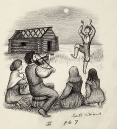 Famed illustrator Garth Williams' original graphite 1953 cover art for Little House on the Prairie by Laura Ingalls Wilder — a familiar image to anyone that has Laura Ingalls Wilder, Garth Williams, Ingalls Family, Children's Literature, American Artists, Cover Art, Childrens Books, Book Art, Wisconsin