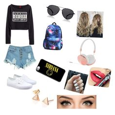 """""""nirvana"""" by lhe02 on Polyvore featuring WithChic, Vans, The Row, Frends, Fiebiger, women's clothing, women's fashion, women, female and woman"""