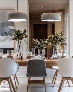 Dining Room Inspiration: 10 Scandinavian Dining Room Ideas You'll Love Interior Design Living Room, Living Room Decor, Kitchen Interior, Scandi Living Room, Bar Interior, Living Rooms, Sweet Home, Dinner Room, Dinner Table