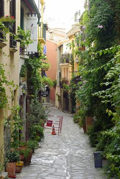 A quiet alley, Collioure, Languedoc-Roussillon, France