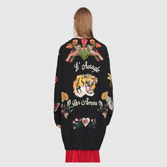 Gucci Women - Oversize embroidered wool cardigan - 434351X13271969