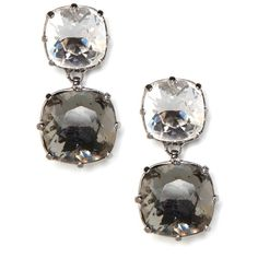 BaubleBar Duo Drop Earrings ($90) ❤ liked on Polyvore