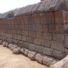 Laterite stone wall architecture interior pinterest for Outer wall design architecture