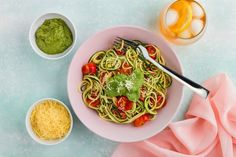 Zucchini Noodles with Rocket and Basil Pesto Recipe – Kayla Itsines