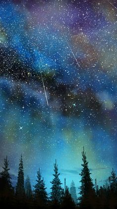 Saw Shooting Stars with Grandkids Night Sky Wallpaper, Star Wallpaper, Galaxy Wallpaper, Galaxy Lockscreen, Wallpaper Samsung, Wallpaper Space, Galaxy Painting, Galaxy Art, Night Sky Painting