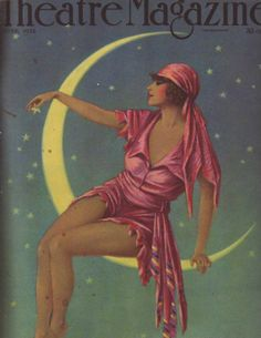 1920's Lady in The Moon  Theater magazine